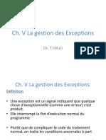 4.Ch. V La gestion des Exceptions