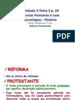 Unidade 4 Tema 2 Reforma Protestante