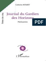 Journal du Gardien des Horizons - Catherine Boudet