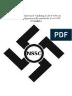 Discurso de Hitler en El Reichstag El 28-4-1939 en Respuesta a Telegrama de Roosevelt Del 14-4-1939