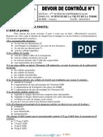 Devoir de Contrôle N°1 Avec correction- SVT - Bac Sciences exp (2013-2014) Mr Mzid Mourad