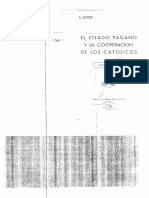 EL ESTADO PAGANO Y LAS COOPERACION DE LOS CATOLICOS