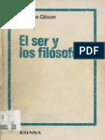 El Ser y Los Filósofos (Etenne Gilson)