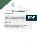 APOSTILA IFRS - Lógica de Programação I