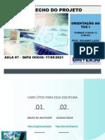 AULA 07 - TCC I - DATA INICIO 17-05-2021