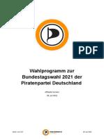 Piratenpartei - Wahlprogramm zur Bundestagswahl 2021