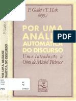 PÊCHEUX, Michel Análise Automática do Discurso (AAD-69)