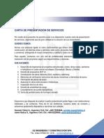 Carta Presentación empresa G2