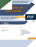 EDUCAÇÃO MEDIEVAL 1SLIDES