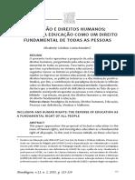 A Inclusão e Dirietos Humanos