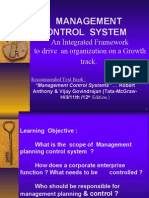 management control systems transfer pricing and