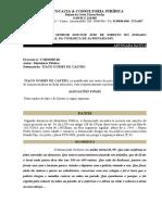 alegações finais do art. 330 e 34 LCP