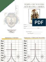 Tarjeta de catequistas