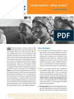 Briefing Paper - Undernutrition