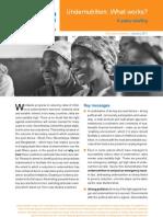 Briefing Paper - Undernutrition