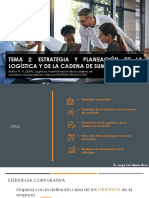 Tema 2 Estrategia y planeación de la logística y de la cadena de suministros