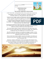 Relaçao da atividades de ensino religioso