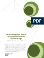 Analysis of Global Efforts to Delay the Effects of Climate Change