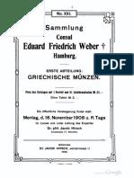 Sammlung Consul Eduard Friedrich Weber, Hamburg. 1. Abt.