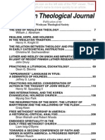 Weslenyan Theology Journal