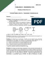 TP Nº 4 - Flexion simple recta - Tensiones tangenciales
