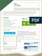 Macmillan Practice Online Student Guide Russian