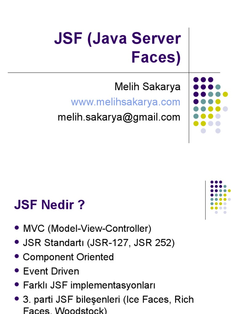 JSF Java Server Faces