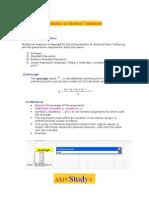 statistics in method validation