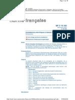 NF C 15-100 Installations électriques BT