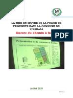 La Mise en Œuvre de La Police de Proximite Dans La Commune de Kinshasa - Rapport Version Provisoire