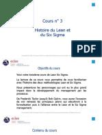 3-Cours n° 3  Histoire du Lean et du Six Sigma - LSSGB