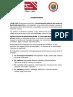 LOS TECNICISMOS ESPAÑOL 10ºP3