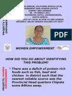 Patricia Lungu Katete Zambia Women Empowerment Project. Presentation.