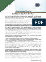 Comunicado Bolivardigital