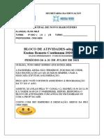 BLOCO DE ATIV. ELISA- 26 A 31 DE JULHO