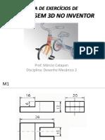 Lista Exercicio Modelagem 3D Inventor