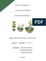 Secuencia Didactica Ciencias Naturales y Tecnologia