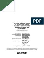 Estudio de revisión y análisis de programas de familias de acogida especializada en administración directa y colaboradores