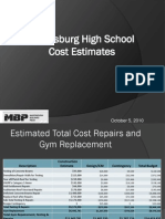 SB MBP Cost Estimate Update Power Point) October 5 2010 (2)
