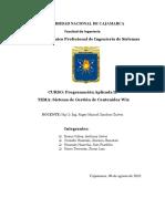 UNIVERSIDAD NACIONAL DE CAJAMARCA INFORME