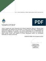 Fin del aislamiento para Alberto Fernández
