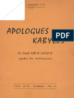 APOLOGUES-KABYLES