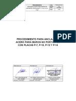 PROCEDIMIENTO DE TRABAJO FERJO - ANCLAJE