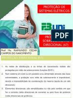 PROTEÇÃO DE SOBRECORRENTE  DIRECIONAL (67)