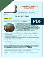 Literatura Del Barroco y Neoclasicismo Once 2021