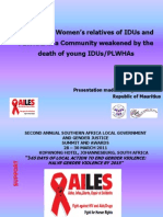 Supporting Women's Relatives of IDUs and PLWHA Counselling and Empowerment - AILES