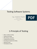 Testing Software Systems