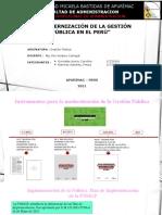 Modernizacion de la gestión pública (Tarea)
