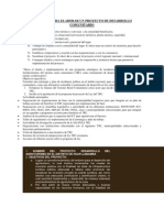 CRITERIOS PARA ELABORAR UN PROYECTO DE DESARROLLO COMUNITARIO (Recuperado)