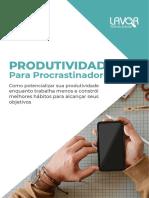 E-Book Produtividade Para Procrastinadores